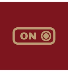 The on button icon switch symbol flat vector