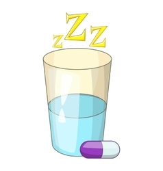 Sleeping pill icon cartoon style vector