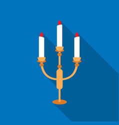 Candlestick lamp icon of for vector