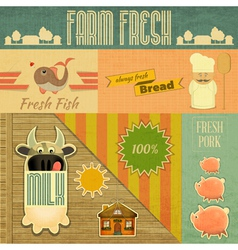 Farm fresh organic products vector