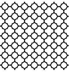 quatrefoil seamless pattern background in black vector image