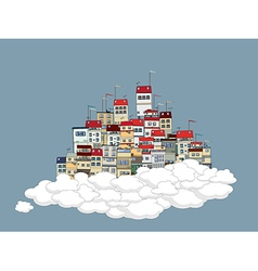 Flying city vector