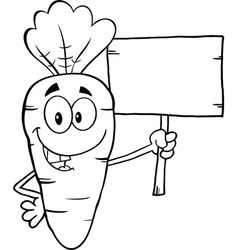 Cartoon carrot vector