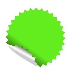 green sticker vector image