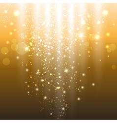 Golden lights vector
