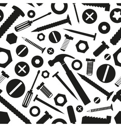Hardware screws and nails with tools seamless vector
