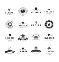 Vintage Logos Design Templates Set vector image
