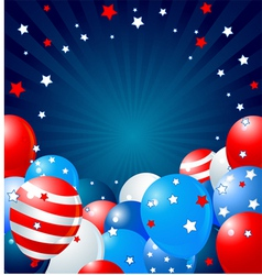 Patriotic balloons border vector