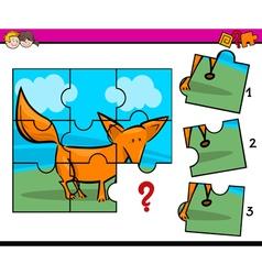 Jigsaw preschool activity vector