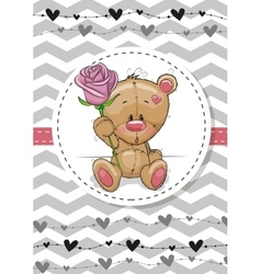 Bear with a flower vector