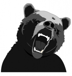 Angry bear stencil vector