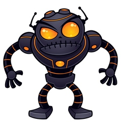 angry robot vector image vector image