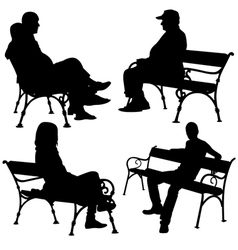 bench people vector image