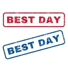 Best day rubber stamps vector