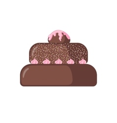 Cake icon on white background vector image vector image