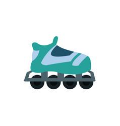 cartoon roller skate sport equipment vector image vector image