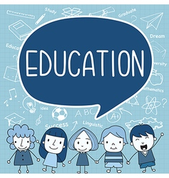 Child with a education ispeech bubble vector image vector image