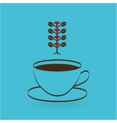 colombian coffee icon vector image