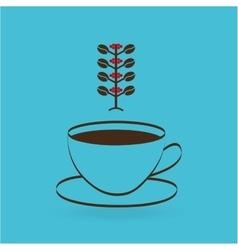 Colombian coffee icon vector