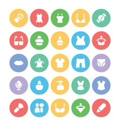 Fashion colored icons 10 vector