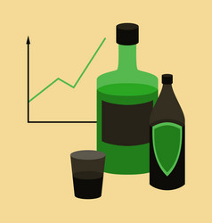 flat icon on stylish background alcohol vector image vector image