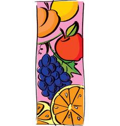 Fruits for breakfast vector