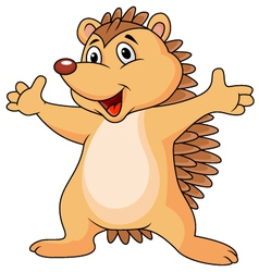 Funny porcupine cartoon vector