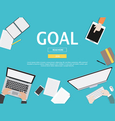 Goal graphic for business concept vector