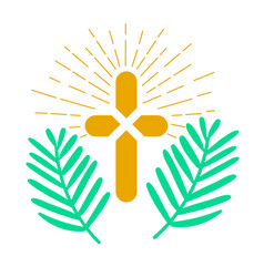 Icon palm sunday vector