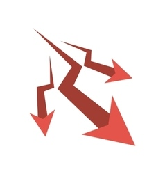 Isolated decrease arrow design vector image