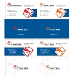 Paint box business card 1 vector