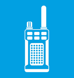 Portable handheld radio icon white vector
