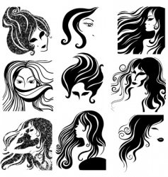 portrait of beauty vector image vector image