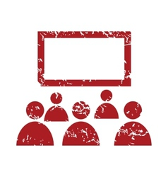 Red grunge theater logo vector image