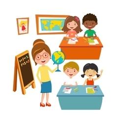 School kids education elementary school learning vector image