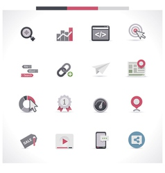 SEO icon set Part 1 vector image vector image