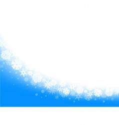 snowflake frame vector image