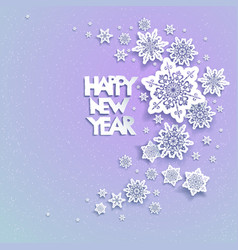 snowflakes holiday background 02 vector image
