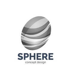 Sphere abstract logo template vector