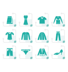 Stylized clothing icons vector
