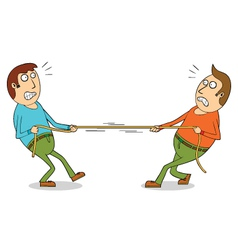 Tug of war vector