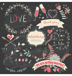 Wedding collection vector