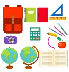 School supplies clip art objects vector