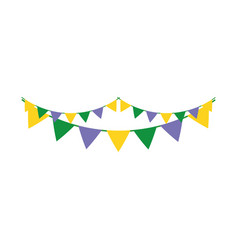 Garlands party isolated icon vector
