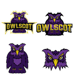Owl logo team mascot vector