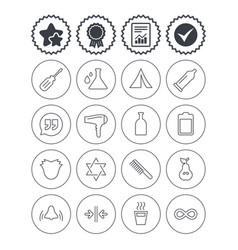 universal icons camping tent hot coffee drink vector image
