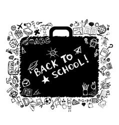 School bag sketch for your design vector image