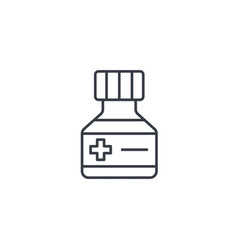 Mixture medical thin line icon linear vector