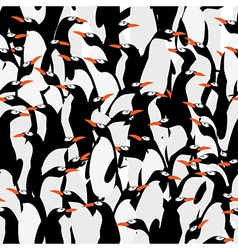Seamless penguins pattern vector