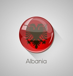 European flags set - albania vector